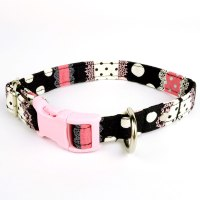 Pink is the New Black  Collar for small dogs | Magasin Miyabi