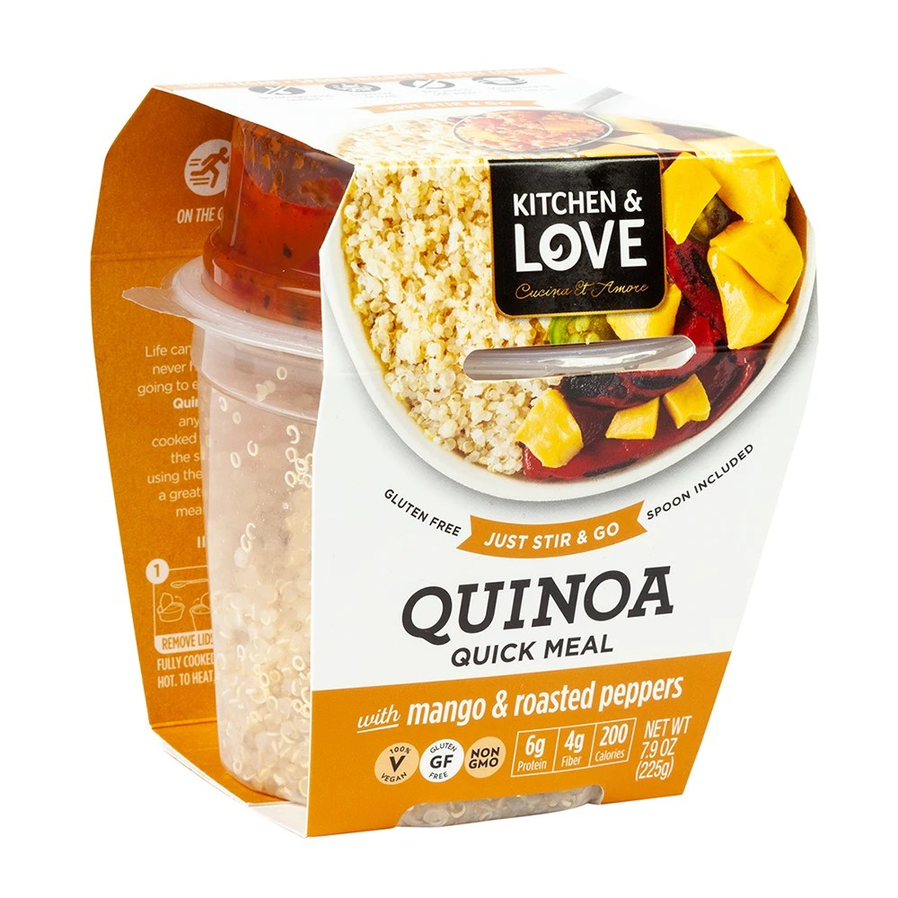 Cucina And Amore Quinoa Review Kitchen Love Ready To Eat Quinoa Mango Roasted Peppers 7 9 Oz