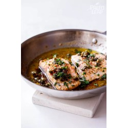 Small Crop Of Salmon With Capers