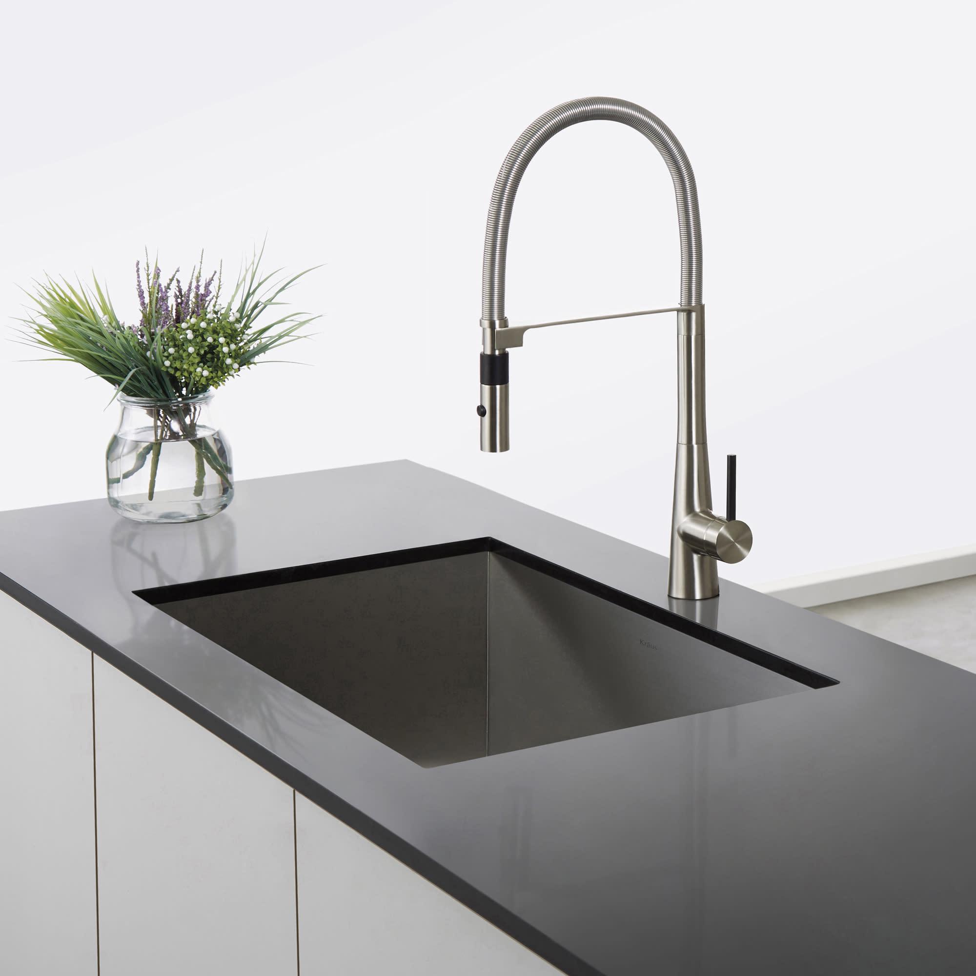 kraus spotlight commercial kitchen faucet Kraus Crespo Series Commercial Kitchen Faucet