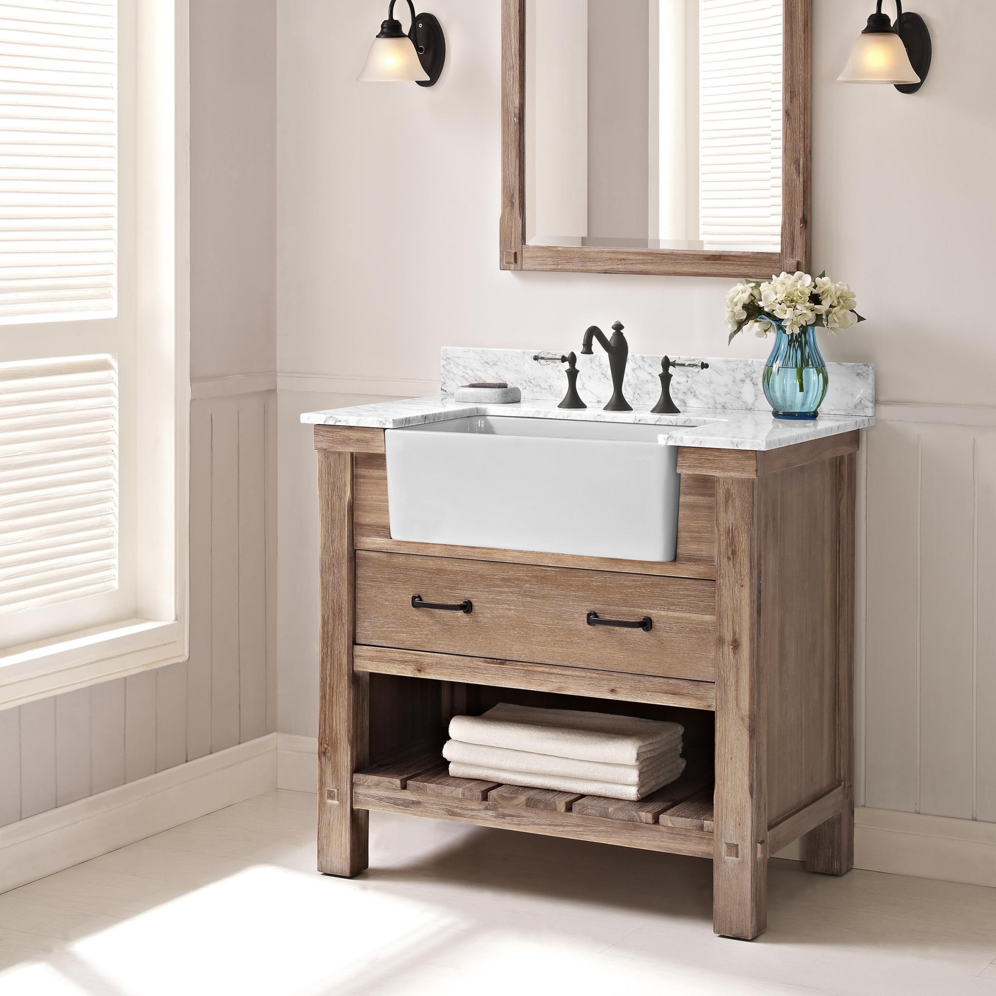 Latoscana Farmhouse Sink 36 How To Choose A Bathroom Vanity Abode
