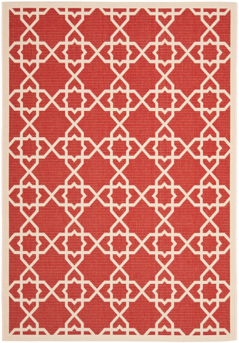 Safavieh Courtyard Safavieh Courtyard Cy6032 248 Red Beige Area Rug