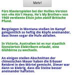 Hauptbildschirm der Anwendung Unnützes Wissen Deluxe