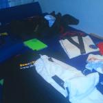 Vorbereitung - Klamotten fertig machen
