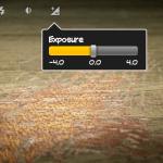 Belichtungseinstellungen direkt im Homescreen