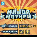 Startbildschirm Major Mayhem