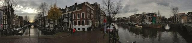 Панорама с Моста пятнадцати мостов, Амстердам 2012