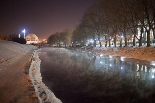 Winter night near Iset river, Дмитрий Афонин, 2012