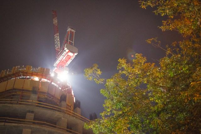 Строительство башни «Исеть», Екатеринбург, 2012