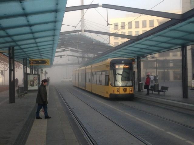 Туманное утро, Дрезден, 2012