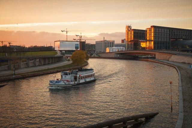 Закат на Шпрее, Берлин, 2012