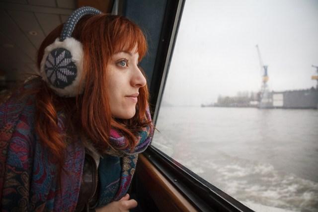 Путешествие по Эльбе на речном трамвае. Гамбург, 2012