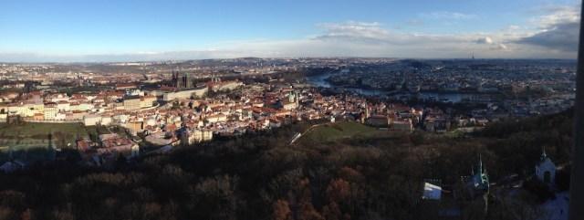 Прага, Вид с Петрина холма