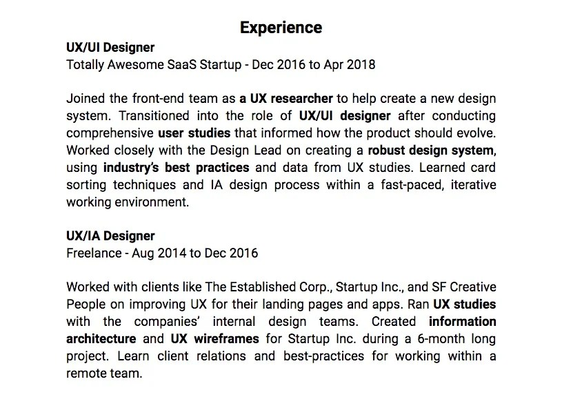 How to Create a First-Rate UX Resume Springboard Blog