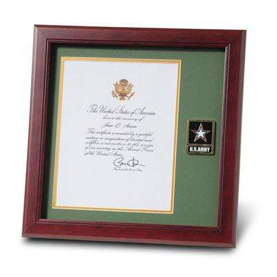US Army Picture Frames  US Army Certificate Holders - green photo frame