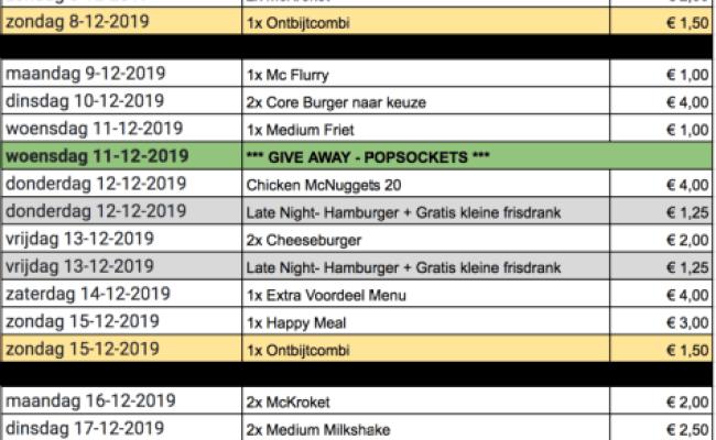 Mcdonald S Cadeau Kalender 2019 Gelekt