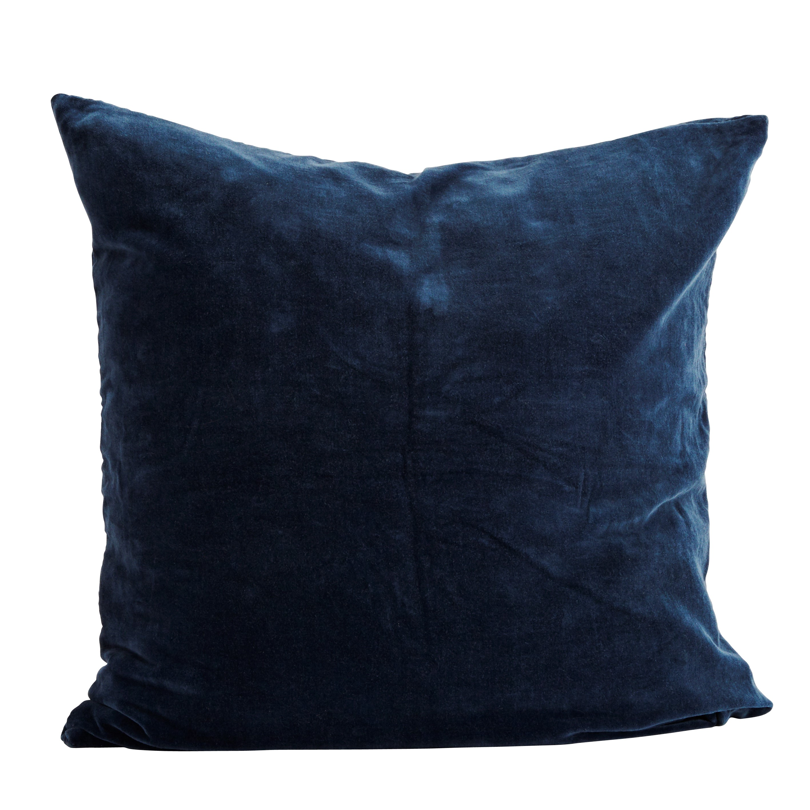 Blue Velvet Cushion Trouva Blue Velvet Cushion Cover 60 X 60 Cm