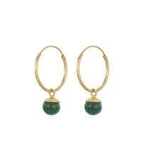 Trouva: Malachite Hoop Earrings