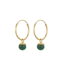 Trouva: Malachite Hoop Earrings