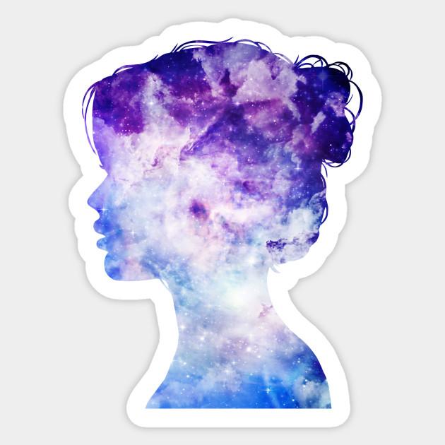 Tank Girl Phone Wallpaper Purple Galaxy Girl Galaxy Sticker Teepublic