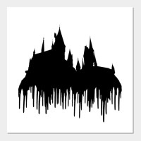 Harry Potter - Hogwarts silhouette melting / dripping ...