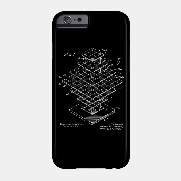 3D Chess Board Patent Print - Chess - Phone Case TeePublic