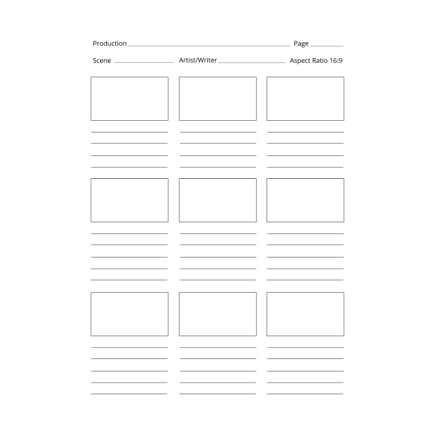 LIMITED EDITION Exclusive Printable Storyboard Template