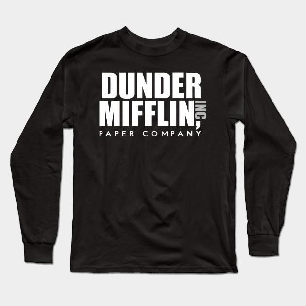 The Office Dunder Mifflin - The Office - Long Sleeve T-Shirt TeePublic