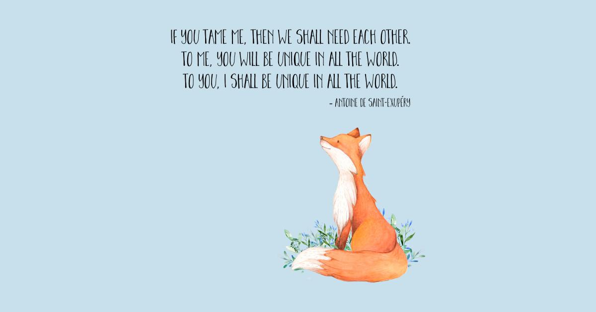 Le Petit Prince Quote Wallpaper Little Prince Fox Quote Fox T Shirt Teepublic