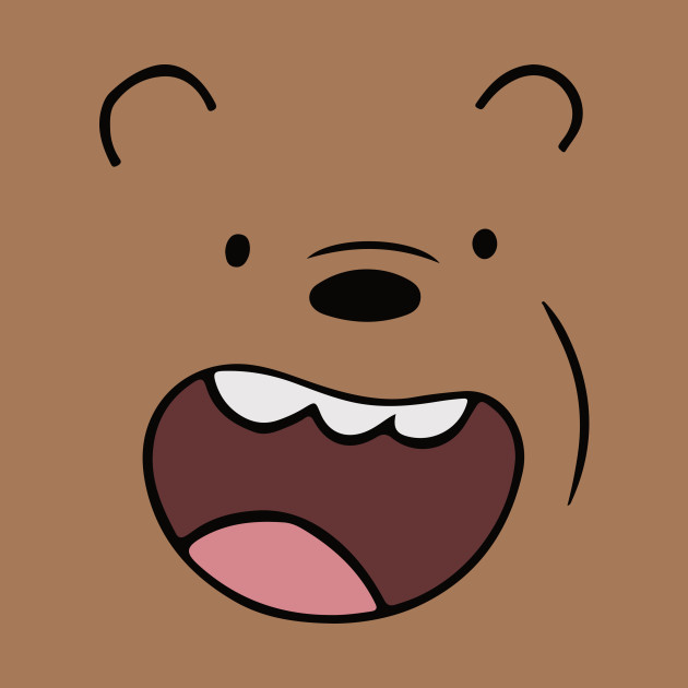 Shelf Wallpaper Hd Grizz Bears Face We Bare Bears Mug Teepublic