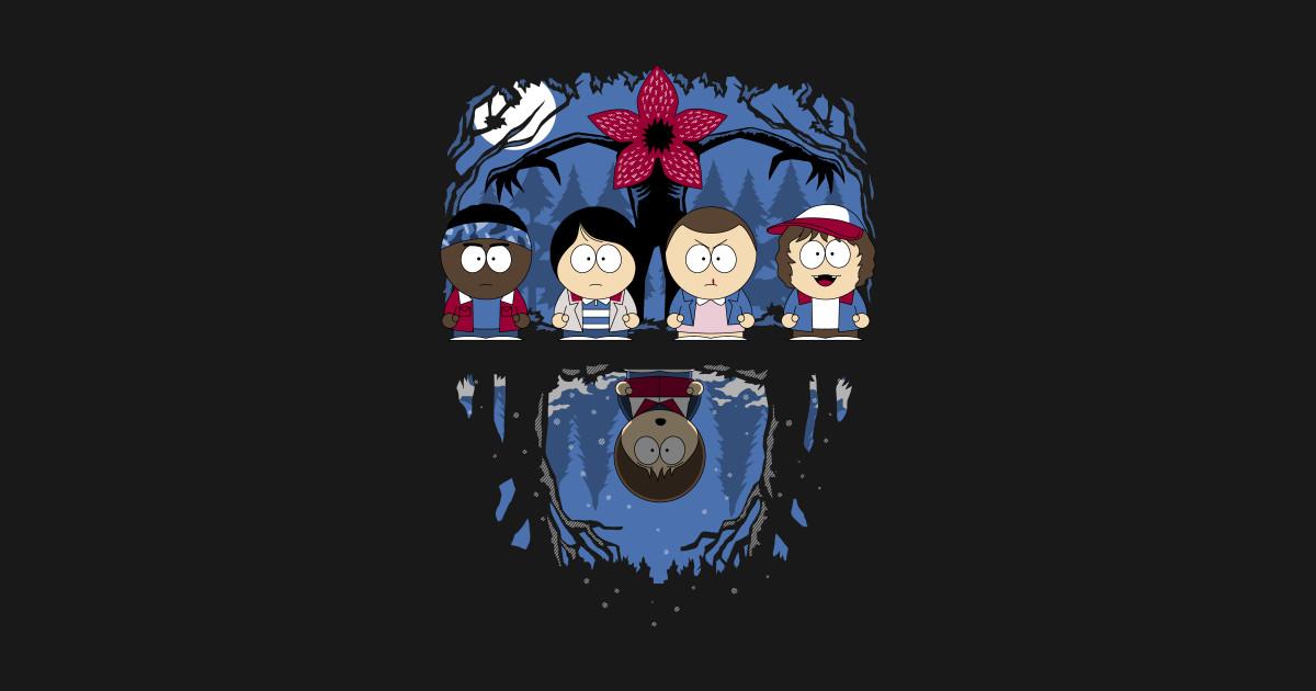 Rick And Morty Wallpaper Iphone Stranger Park Stranger Things T Shirt Teepublic