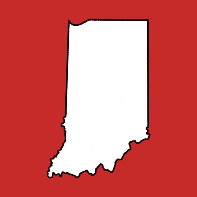 Indiana - Blank - Indiana - T-Shirt TeePublic