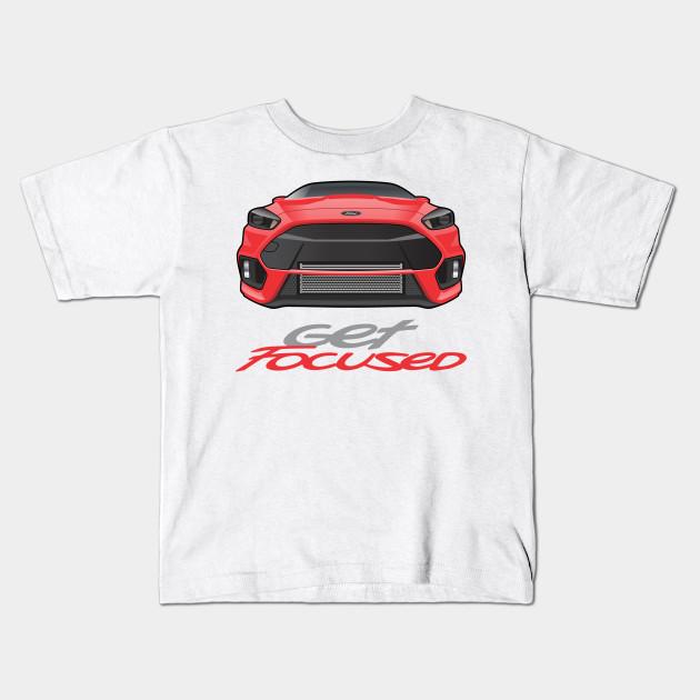 Get Focused Red - Focus - Kids T-Shirt TeePublic