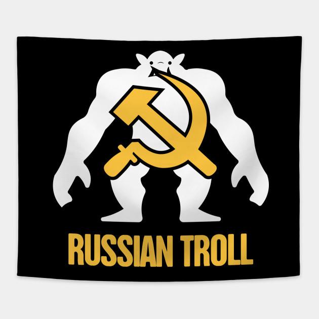 Funny Russian Troll / Internet Bot - Russian Bot - Tapestry TeePublic