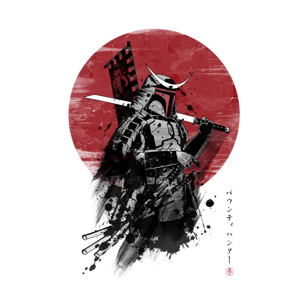 Wallpaper Anime Laptop Mandalorian Samurai Boba Fett T Shirt Teepublic