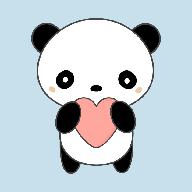 Cute Wallpapers For Phone Cases Kawaii Cute Panda Bear With Heart T Shirt Kawaii Panda