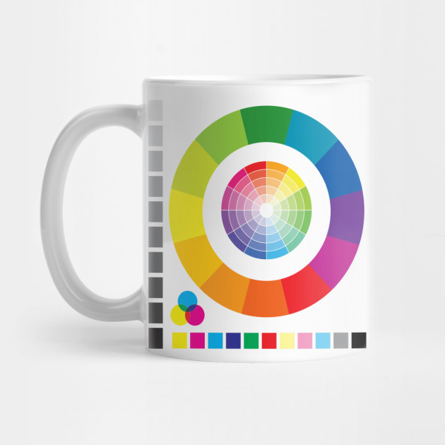 Color Wheel Chart Print Tester - Color Wheel - Mug TeePublic