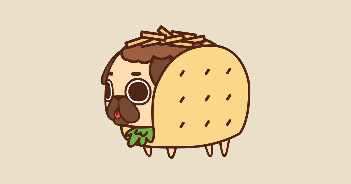 Cute Anime Dogs Wallpaper Taco Puglie Pusheen T Shirt Teepublic