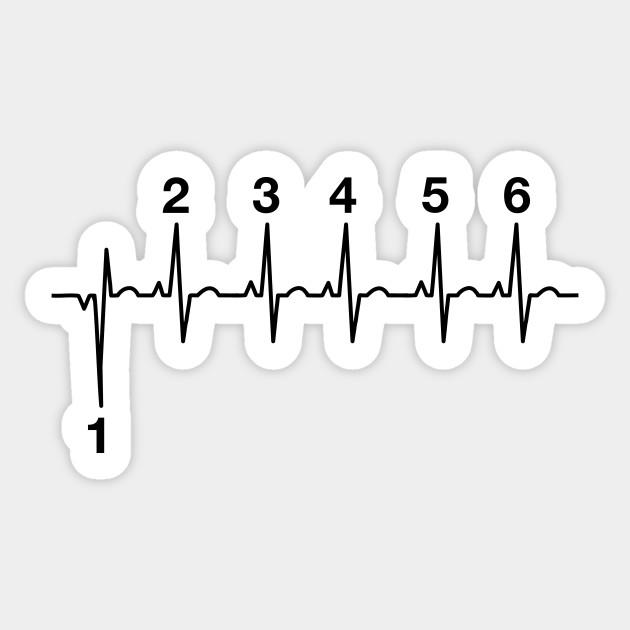 Motorcycle Gear Shift Lifeline - 1n23456 - Sticker TeePublic