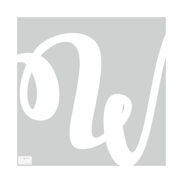 Letter W Elegant Cursive Calligraphy Initial Monogram - Cursive