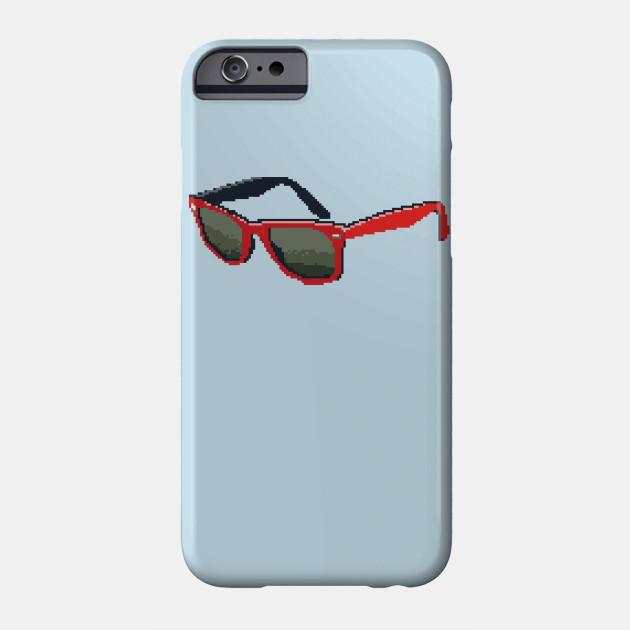 Red Shades - 8bit - Phone Case TeePublic