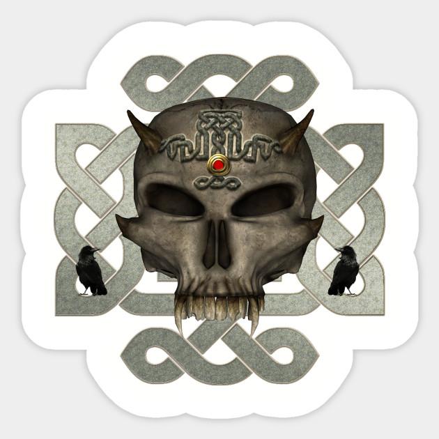 Awesoem skull - Skull Celtic Eskeleton Bone Knote Sign Symbol