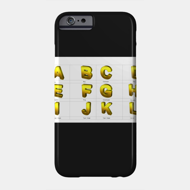 ABCD - Letters And Numbers - Phone Case TeePublic