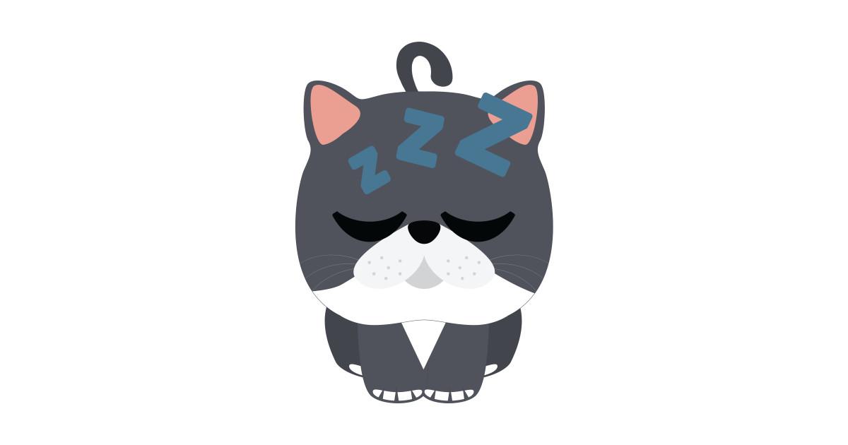 Exotic Cat Emoji Tired and Sleep - Cat - Phone Case TeePublic