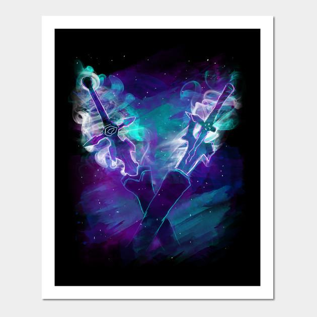 Dark repulser and Elucidator - Sword Art Online - Posters and Art