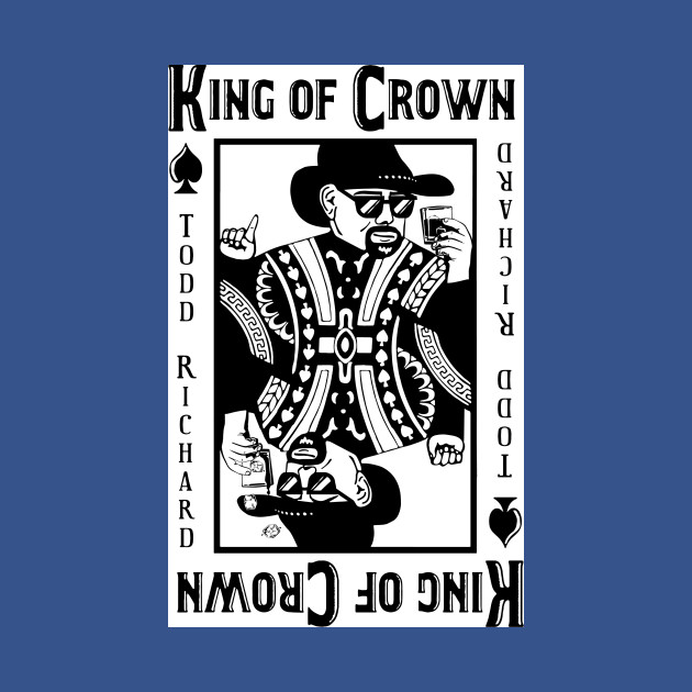 KING OF CROWN -Cool Playing Card Design - Playing Cards - T-Shirt