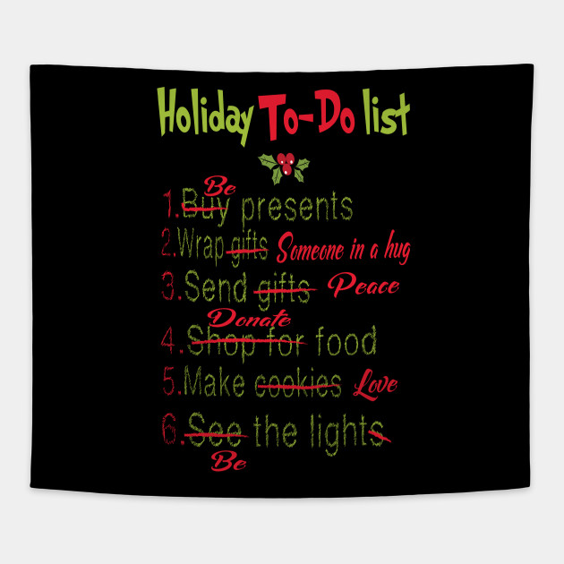 New funny Christmas Holiday to-do list - Christmas Holiday Vacation