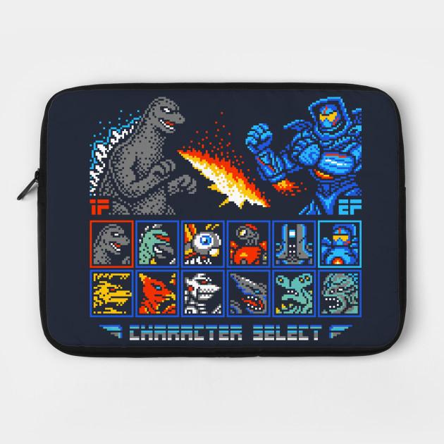 KAIJU FIGHTER - Godzilla - Laptop Case TeePublic