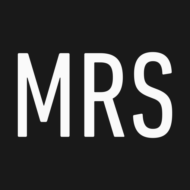 Mrs Cute Bold Design - Newly Married - Kids Long Sleeve T-Shirt