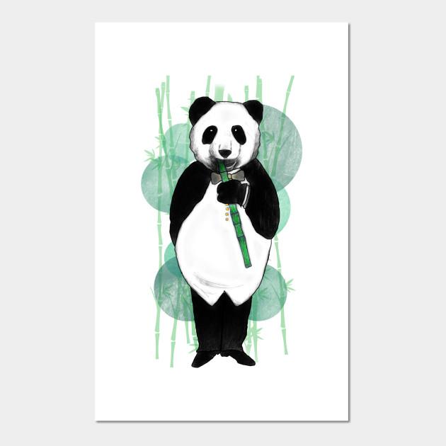 Elegant Panda - Panda - Posters and Art Prints TeePublic